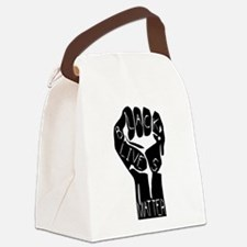 BLACK LIVES MATTER POWER FIST Canvas Lunch Bag