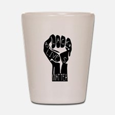 BLACK LIVES MATTER POWER FIST Shot Glass