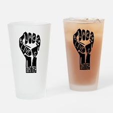 BLACK LIVES MATTER POWER FIST Drinking Glass