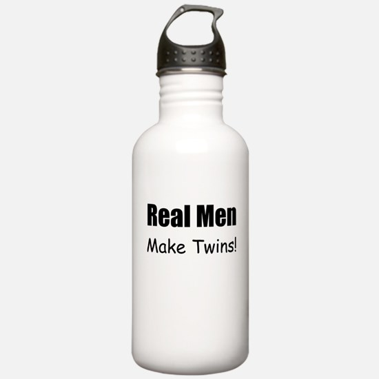 REAL MEN MAKE TWINS Water Bottle