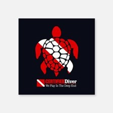 Turtle Dive Flag Sticker