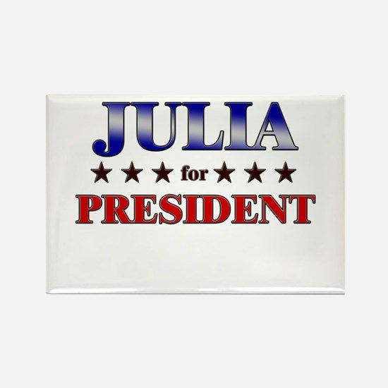 JULIA for president Rectangle Magnet