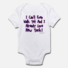 Can't Walk Already Love New Y Infant Bodysuit