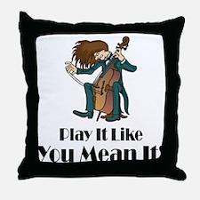 Play The Cello Throw Pillow