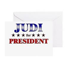 JUDI for president Greeting Card