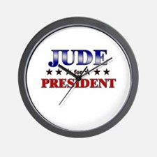 JUDE for president Wall Clock