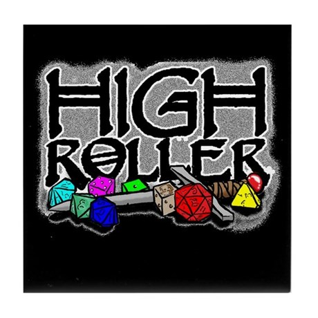 """High Roller"" Tile Coaster"