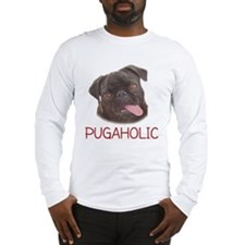 Pugaholics - Black Long Sleeve T-Shirt