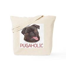 Pugaholics - Black Tote Bag