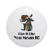 Play The Cello Ornament (Round)