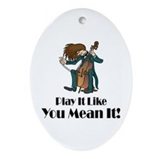 Play The Cello Ornament (Oval)
