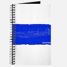 Fighter Plane Blueprint Journal