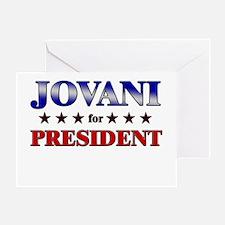 JOVANI for president Greeting Card
