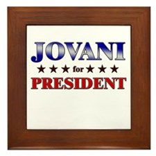 JOVANI for president Framed Tile