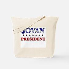 JOVAN for president Tote Bag