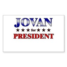 JOVAN for president Rectangle Decal