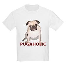 Pugaholic -Fawn Kids T-Shirt