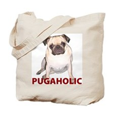 Pugaholic -Fawn Tote Bag