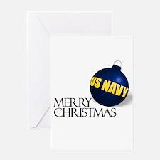 Merry US Navy Christmas Greeting Card