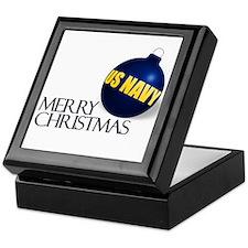 Merry US Navy Christmas Keepsake Box