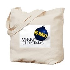 Merry US Navy Christmas Tote Bag