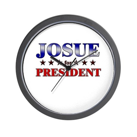JOSUE for president Wall Clock