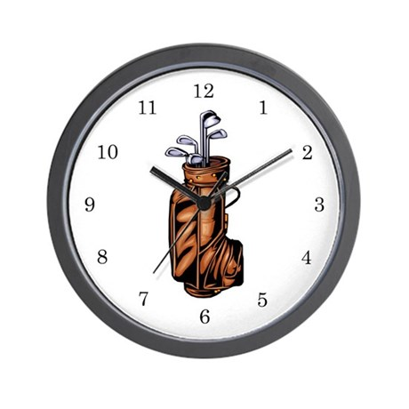 Golf Clubs Wall Clock