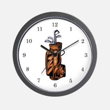Golf Clubs Wall Clock
