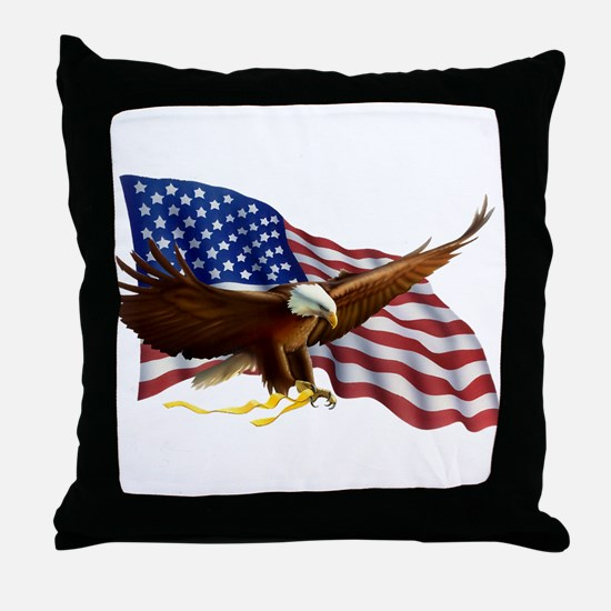 Unique Eagles Throw Pillow