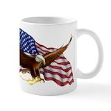 Bald eagle american flag Standard Mugs (11 Oz)