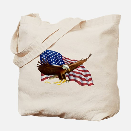 Unique God bless america Tote Bag