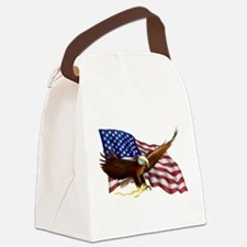 Cute God bless america Canvas Lunch Bag