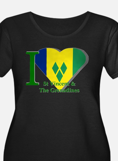I Love St Vincent & The Grenadines Plus Size T-Shi