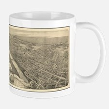 Vintage Pictorial Map of Wilkes-Barre PA (188 Mugs