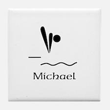 Team Dive Monogram Tile Coaster