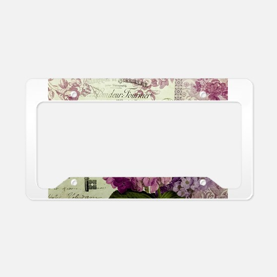 Letters from Paris License Plate Holder