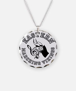 Evba Logo In Black Necklace Circle Charm