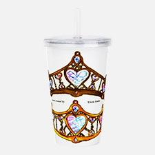 Queen of Hearts gold metal crown tiara Acrylic Dou