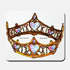 Queen of Hearts gold metal crown tiara Mousepad