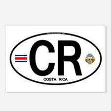 Costa Rica Euro Oval Postcards (Package of 8)