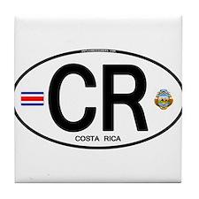 Costa Rica Euro Oval Tile Coaster