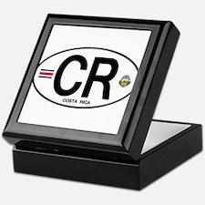Costa Rica Euro Oval Keepsake Box