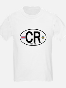 Costa Rica Euro Oval T-Shirt