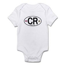 Costa Rica Euro Oval Infant Bodysuit
