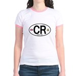 Costa Rica Euro Oval Jr. Ringer T-Shirt