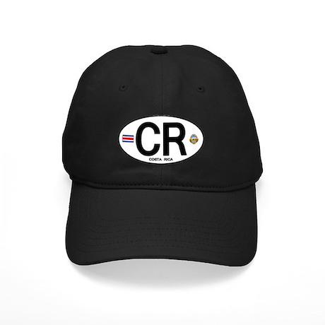 Costa Rica Euro Oval Black Cap