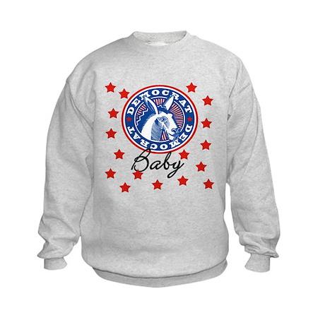 Democrat Baby donkey Kids Sweatshirt