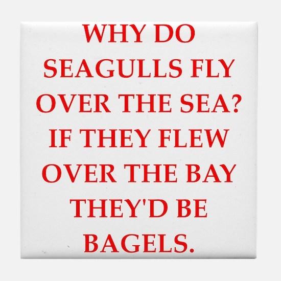 seagulls Tile Coaster