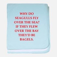 seagulls baby blanket