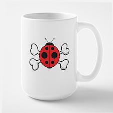 Cute Ladybug & Crossbones Mug